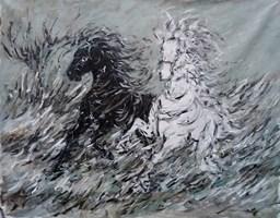 Obraz do salonu artysty Adam Bojara pod tytułem K48 Konie