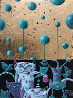 Living room painting by Magdalena Rytel-Skorek titled Comedy