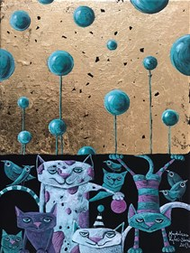 Obraz do salonu artysty Magdalena Rytel-Skorek pod tytułem Komedianci