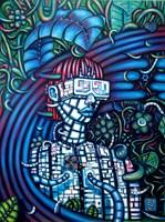 Obraz do salonu artysty Kamil Jakóbczak pod tytułem Cyber 2020