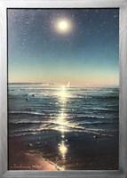 Obraz do salonu artysty Wiktor Juszkiewicz pod tytułem Noc nad morzem