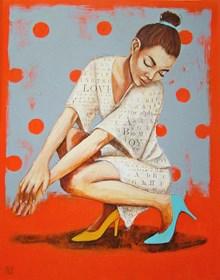 Obraz do salonu artysty Renata Magda pod tytułem Uśmiechając sie do myśli