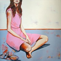 Living room painting by Renata Magda titled Look
