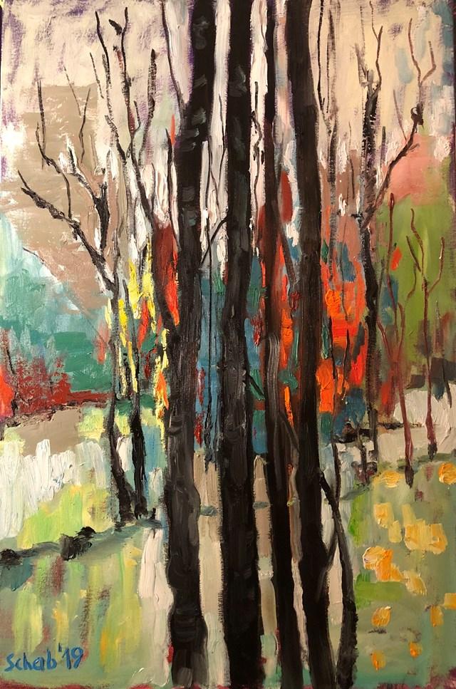 Obraz do salonu artysty David Schab pod tytułem Ekspresja wiosenna