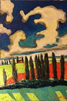 Living room painting by David Schab titled Tuscany