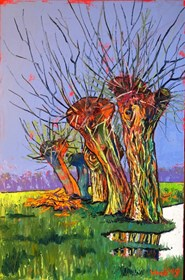 Living room painting by David Schab titled Willow tree