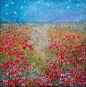 Obraz do salonu artysty Alicja Kappa pod tytułem Noc świetlików
