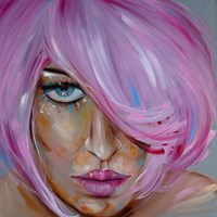 Living room painting by Iwona Wierkowska-Rogowska titled Femininity