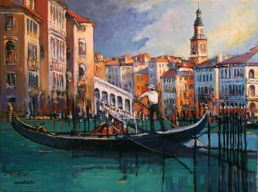 Obraz do salonu artysty Piotr Rembieliński pod tytułem Wenecja, Canal Grande