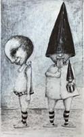 Obraz do salonu artysty Piotr Kamieniarz pod tytułem Podział ról