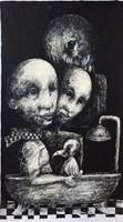 Obraz do salonu artysty Piotr Kamieniarz pod tytułem Niepożądany gość