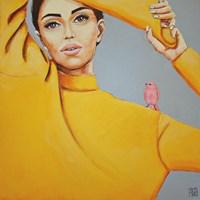 Obraz do salonu artysty Renata Magda pod tytułem Pink bird II