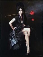 Obraz do salonu artysty Joanna Sierko-Filipowska pod tytułem Dzika róża – Amy (portret Amy Winehouse)