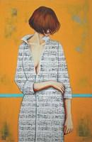 Obraz do salonu artysty Renata Magda pod tytułem Zaklęta w dzwiękach IX