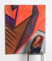 Rzeźba do salonu artysty Joanna Roszkowska pod tytułem RUSTY ORANGE