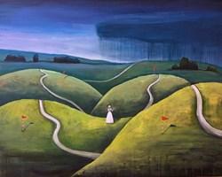 Obraz do salonu artysty Sabina Maria Grzyb pod tytułem Nie przeminie z wiatrem