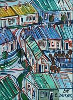 Obraz do salonu artysty Edward Dwurnik pod tytułem Błonie