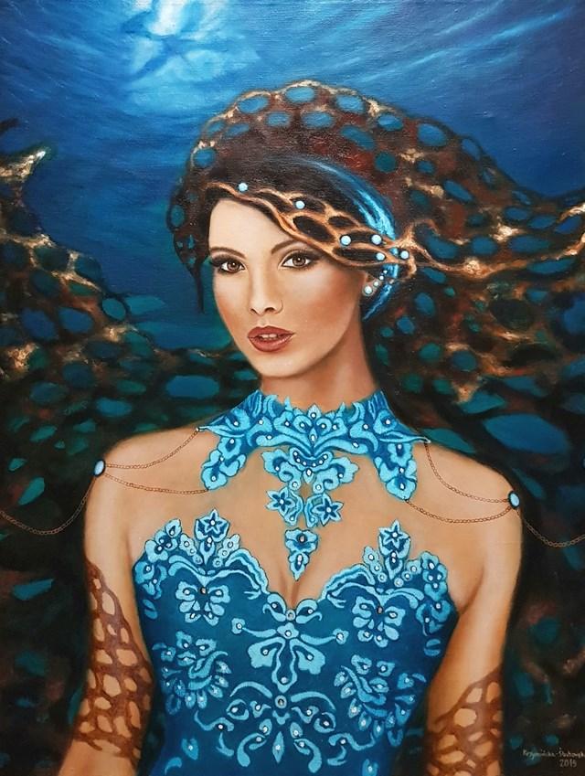 Obraz do salonu artysty Monika Krzymińska-Śluborska pod tytułem Syrena z cyklu Uwikłane
