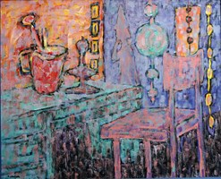 Living room painting by Adam Bojara titled P42