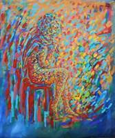 Obraz do salonu artysty Adam Bojara pod tytułem 29 SIEDZĄCA KOBIETA