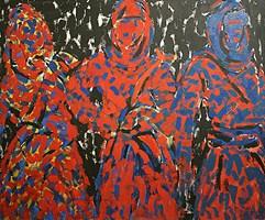 Obraz do salonu artysty Adam Bojara pod tytułem P36  DZIEWCZYNY