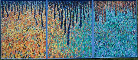 Living room painting by Adam Bojara titled 27 Forest