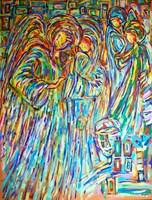Obraz do salonu artysty Adam Bojara pod tytułem P23 ANIOŁY