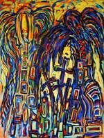 Obraz do salonu artysty Adam Bojara pod tytułem P18 ANIOŁY