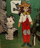 Obraz do salonu artysty Adam Bojara pod tytułem P11 PAJAC