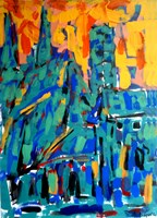 Obraz do salonu artysty Adam Bojara pod tytułem 72 FRANKFURT