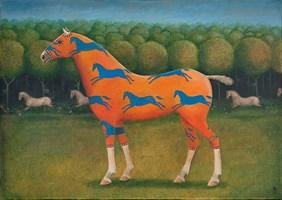 Obraz do salonu artysty Malwina de Brade pod tytułem Koń rycerski
