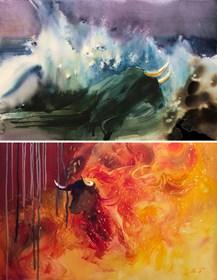 Obraz do salonu artysty Beata Musiał-Tomaszewska pod tytułem Dwa żywioły