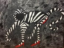 Obraz do salonu artysty Iwona Molecka pod tytułem Dancing in red high heels