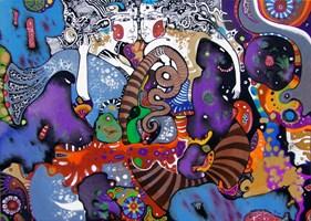 Obraz do salonu artysty Natalia Pastuszenko pod tytułem Meluzynka i syrenka
