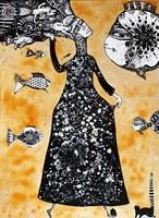 Obraz do salonu artysty Natalia Pastuszenko pod tytułem Ryboludy