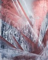 Living room painting by Amanda Zaleska titled Rust