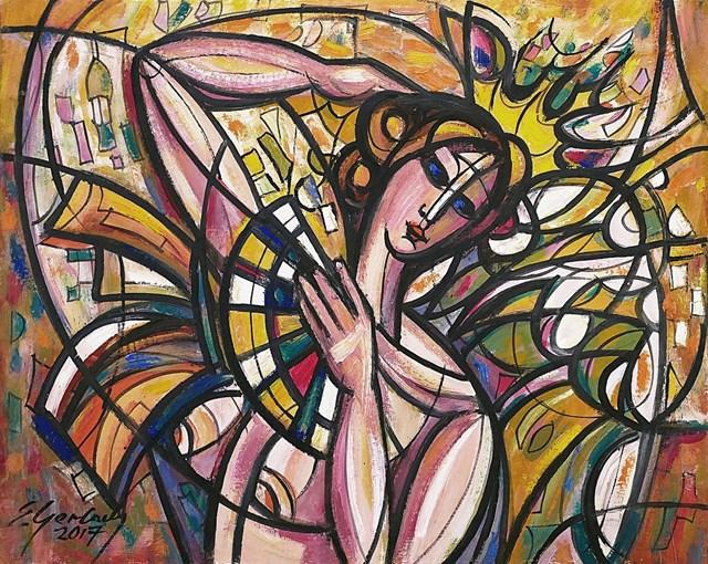 Obraz do salonu artysty Eugeniusz Gerlach pod tytułem Tancerka