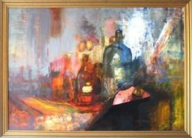 Living room painting by Michał Smółka titled Still life