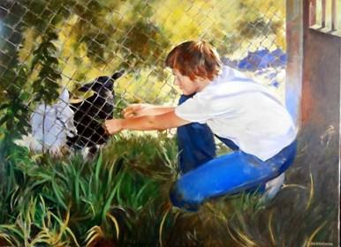 Obraz do salonu artysty Jan Dubrowin pod tytułem Kózki