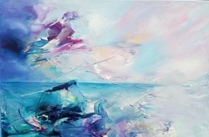 Living room painting by Aneta Barglik titled Wayana