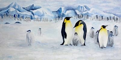 Obraz do salonu artysty Joanna Wróblewska pod tytułem Pingwiny