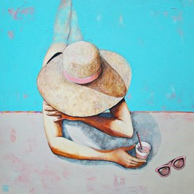 Obraz do salonu artysty Renata Magda pod tytułem Pink glasses
