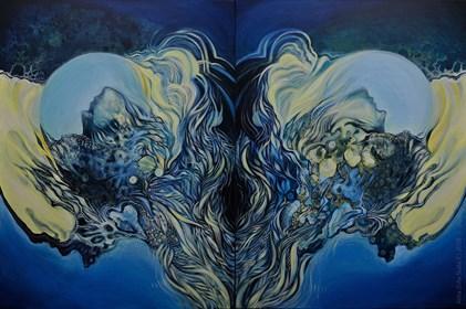 Obraz do salonu artysty Anita Zofia Siuda pod tytułem Światy równoległe, dyptyk