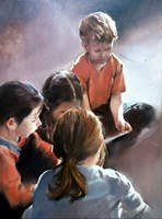 Obraz do salonu artysty Jan Dubrowin pod tytułem Mali artyści
