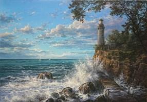 Obraz do salonu artysty Wiktor Juszkiewicz pod tytułem Latarnia Morska