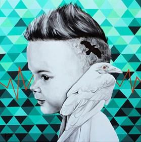 Obraz do salonu artysty Zuzanna Jankowska pod tytułem Corvus Albus
