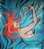 Living room painting by Aleksandra Wiszniewska titled Maori