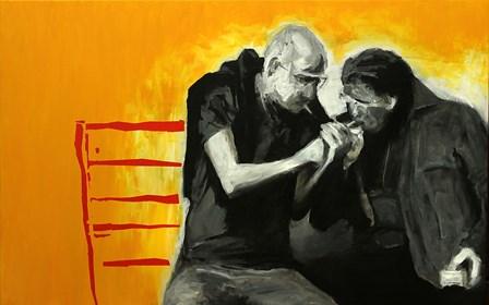 Obraz do salonu artysty Krzysztof Musiał pod tytułem Przyjaciele