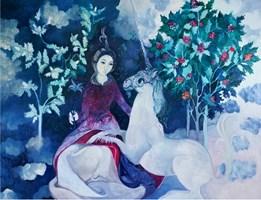 Obraz do salonu artysty Katarzyna Dietrych-Kuzak pod tytułem Jednorożec