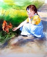 Obraz do salonu artysty Jan Dubrowin pod tytułem W parku